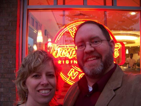Free doughnuts at Krispy Kreme!